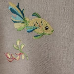 Tropical Sarah Spencer blouse with colorful fish